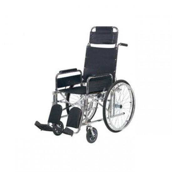 Tekerlekli Sandalye Sırt Yatar Ayak Kalkar Yan Kol Çıkar Kromajlı HMC8011