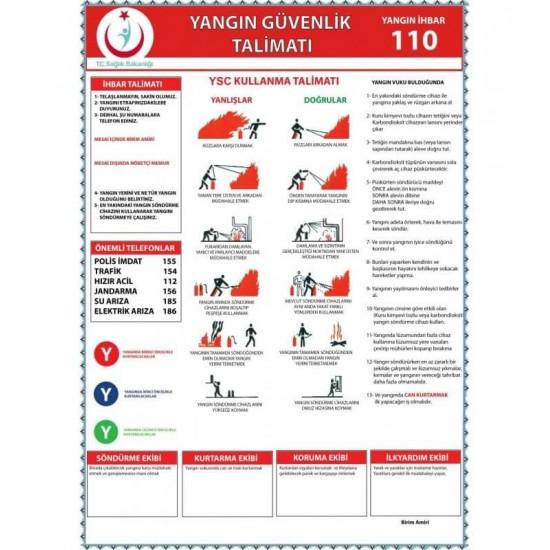 Yangın Güvenlik Talimatnamesi (A4)