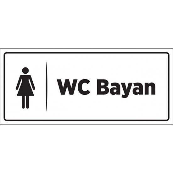 Bayan WC Tabelası