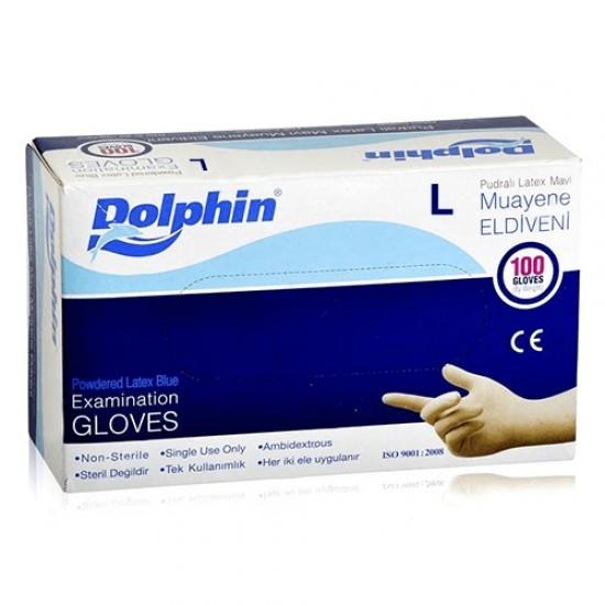 Dolphin Muayene Eldiveni Pudralı 100lü