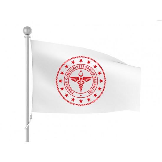 Sağlık Bakanlığı Bayrağı (Yeni Logolu)