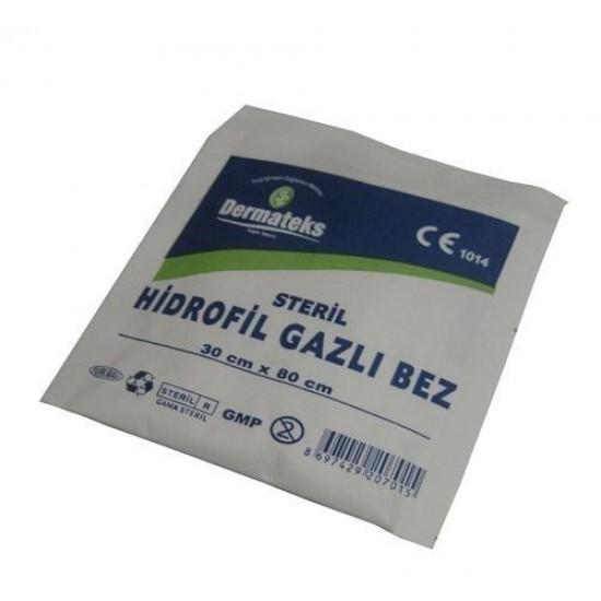 Dermateks Steril Gazlı Bez 30x80 cm (2 Parça)