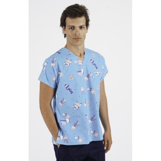 Erkek Desenli Dr Greys Modeli Cerrahi Takım (Terikoton Kumaş)